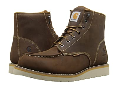 Carhartt 6-Inch Non-Safety Toe Wedge Boot (Brown Oil Tanned Leather) Men