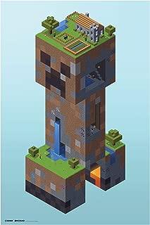 JINX Minecraft Creeper Village Wall Poster, 22.375