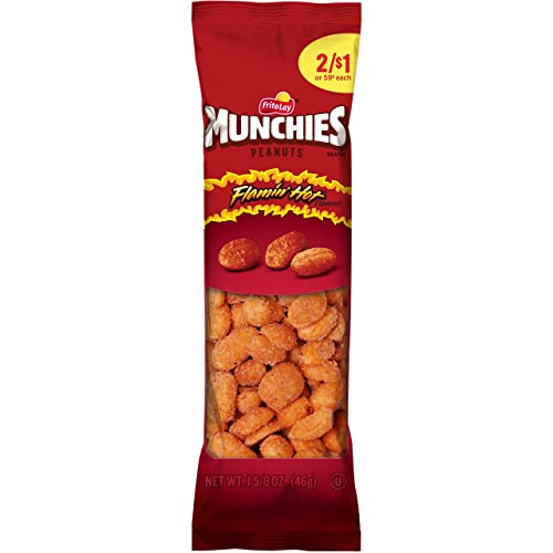 Munchies Flamin' Hot Flavored Peanuts, 36 Count, 1.625 oz Bags