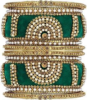 مجموعة أساور الماس الصناعية من أهيلي الهندية التقليدية لحفلات الزفاف أزياء المجوهرات للنساء