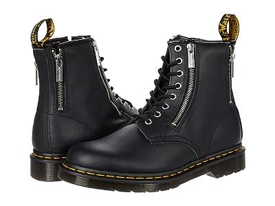 Dr. Martens 1460 Nappa Zip (Black Nappa) Shoes