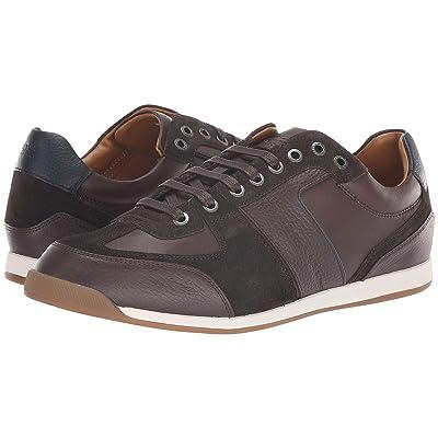 BOSS Hugo Boss Maze Sneaker in Leather Suede by BOSS Green (Dark Brown) Men