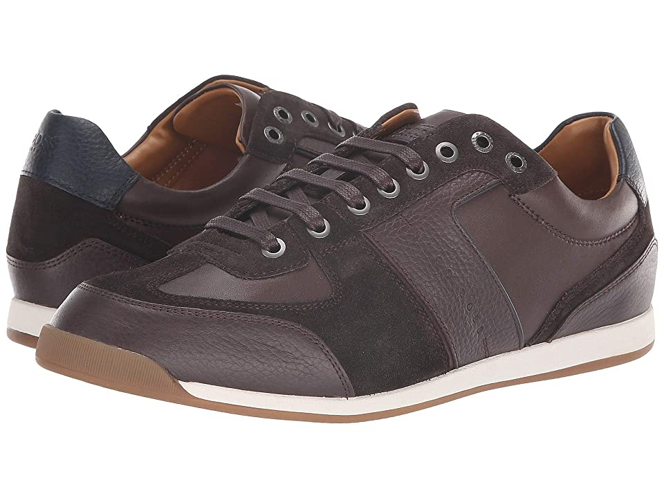 BOSS Hugo Boss Maze Sneaker in Leather Suede by BOSS Green (Dark Brown) Men