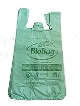 BioBag Biodegradable Bags - Compostable Bags, Regular Size T-Shirt Style (1 Bundle of 50)