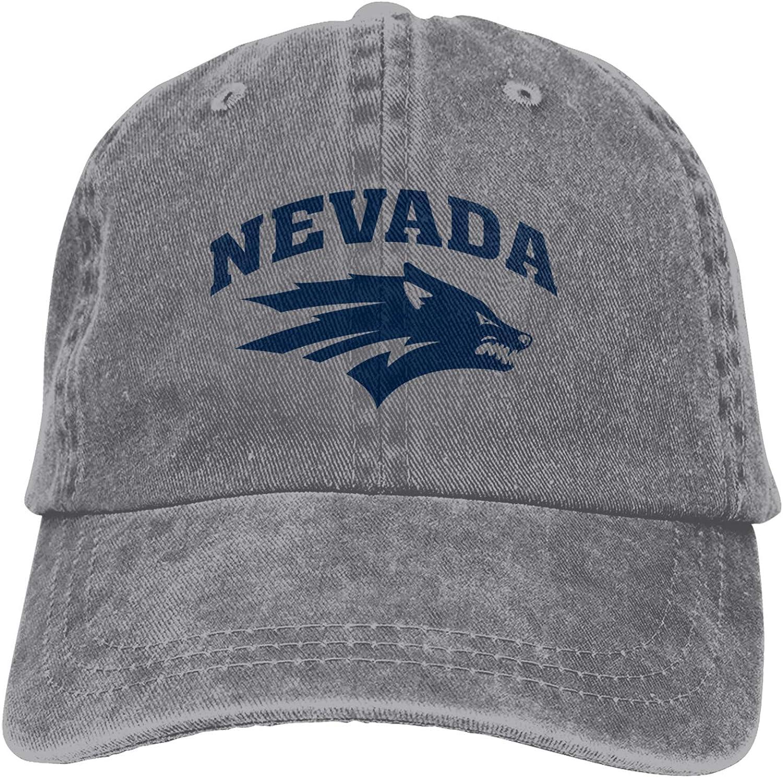 Ali Yee University of Nevada-Reno Logo Relaxed Fit Dad Cowboy Hat Adjustable Baseball Cap Odessa Cap Gray