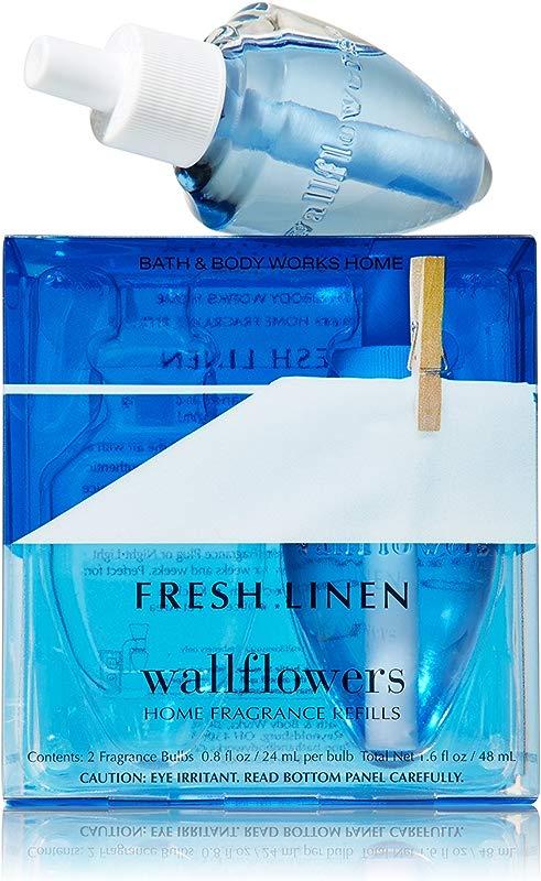 Bath Body Works Fresh Linen Wallflowers Home Fragrance Refills 2 Pack 1 6 Fl Oz Total
