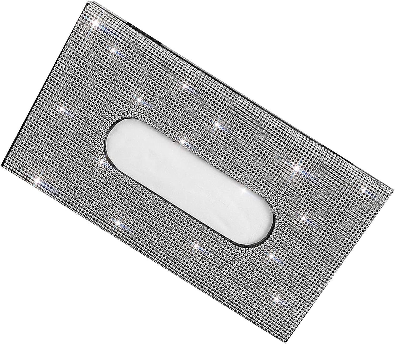 YANJ Crystal Sparkling Napkin Holder Cas Tissue Our shop most popular Leather Sales results No. 1 Backseat
