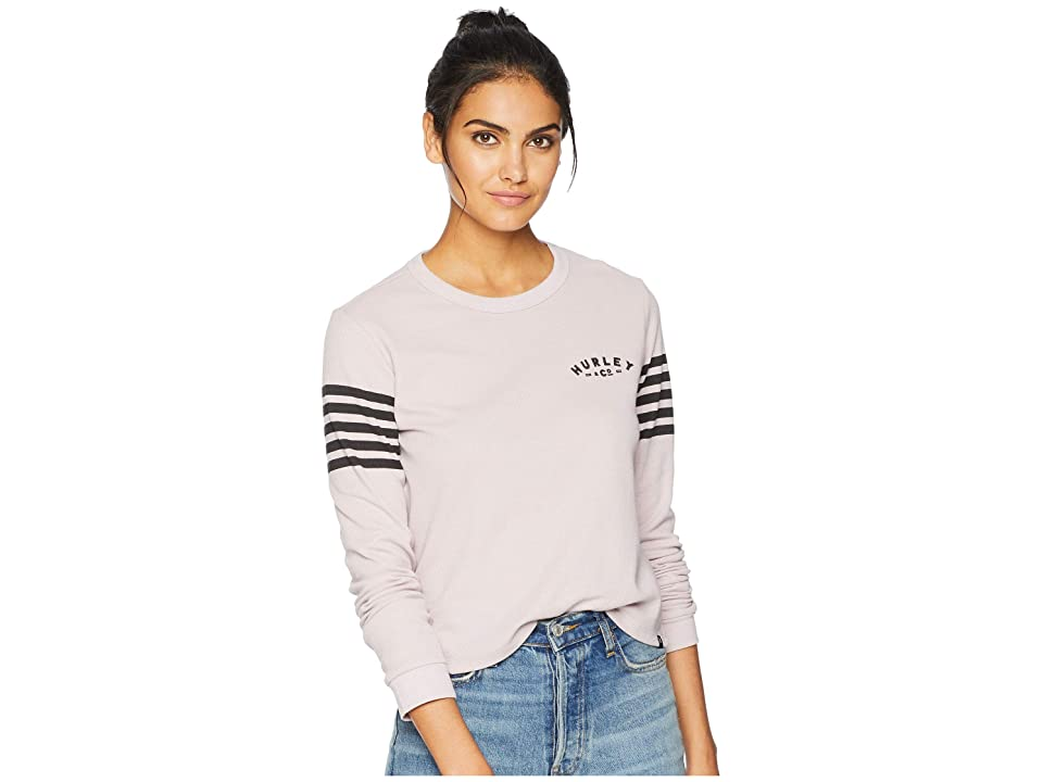 Hurley All State Waffle Tee Long Sleeve (Particle Rose) Women