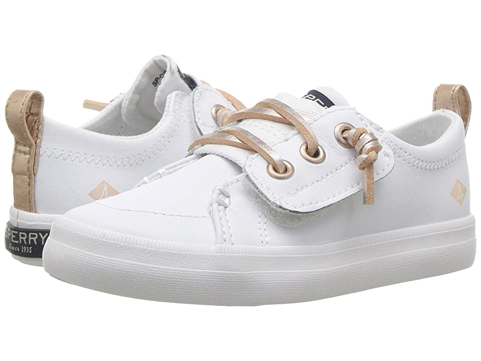 Sperry Kids Crest Vibe Jr. (Toddler/Little Kid) (White Leather) Girls Shoes