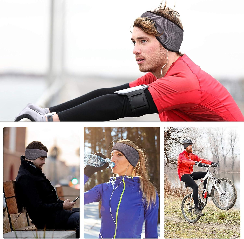 Arcweg Stirnband Herren Sport Kopfband Haarband Damen Winter Elastisch Ohrenw/ärmer Warm Weich Fleece Ohrensch/ützer Kopfbedeckung Winddicht Outdoor Radsport Joggen Wandern Wintersport