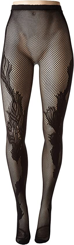 Peacock Feather Fashion Net Tights