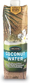 Nature's Greatest Foods, Organic Coconut Water, USDA Organic Certified, No Sugar Added, Never from Concentrate, Pure & Ref...