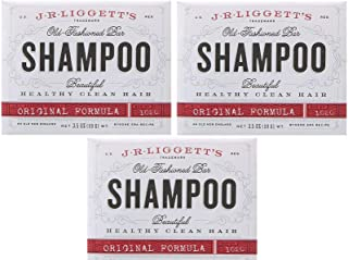 J·R·LIGGETT'S All-Natural Shampoo Bar, Original Formula - Supports Strong and Healthy Hair - Nourish Follicles with Antioxidants and Vitamins - Detergent and Sulfate-Free, Set of 3, 3.5 Ounce Bars