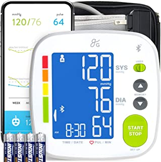 GreaterGoods Bluetooth Full Set Blood Pressure Monitor Cuff and Kit, Carrying Case, Batteries, Plug, Cuff, Monitor, Free i...