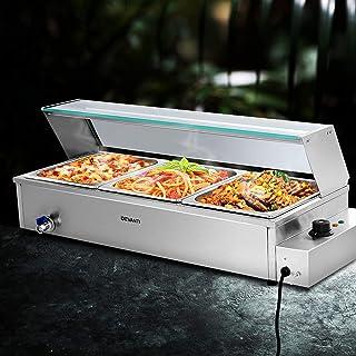 Devanti Commercial Food Warmer Bain Marie Electric Buffet Pan Stainless Steel