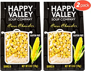 Happy Valley Corn Chowder Soup - Dried Soup Mix | Fresh Off The Cob Taste | Gluten Free | Serves 8 (2-Pack)