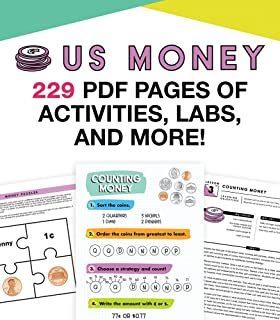 In A Flash US Money Instructional Resources—Flash Drive With Math Lessons, Journal, Templates, Posters, Charts, Games for ...