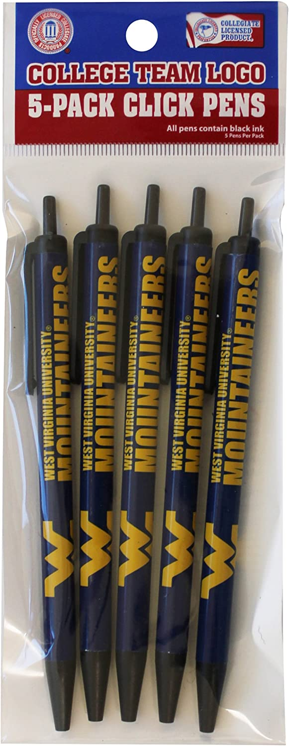 NCAA West gift Virginia Mountaineers Fees free!! Disposable Click Pens