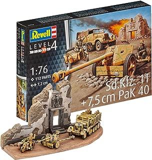 Revell- Maqueta de Tanque SD.Kfz.11 & 7,5 cm Pak 40 & Motocicleta R 75, en Escala 1: 76 (03252)