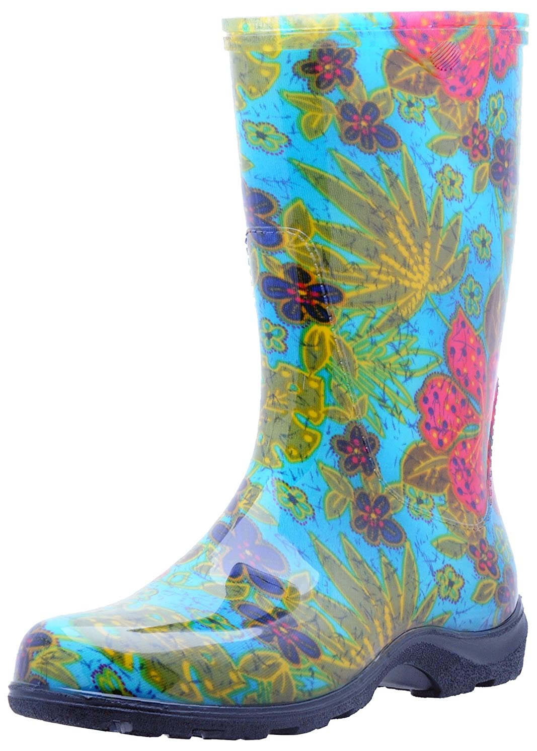 Sloggers  Women's Waterproof Rain and Garden Boot with Comfort Insole, Midsummer Blue, Size 6, Style 5002BL06