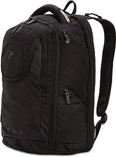 SwissGear 2762 ScanSmart Laptop Backpack. Abrasion-Resistant & Travel-Friendly Laptop Backpack (Monochrome Black)