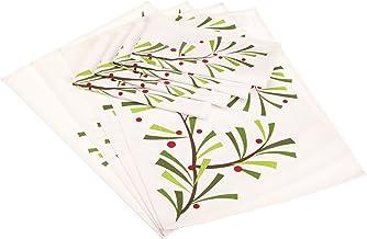 DII Trim the Tree Holiday Sprig بياضات مطبوعة، مجموعة من 8