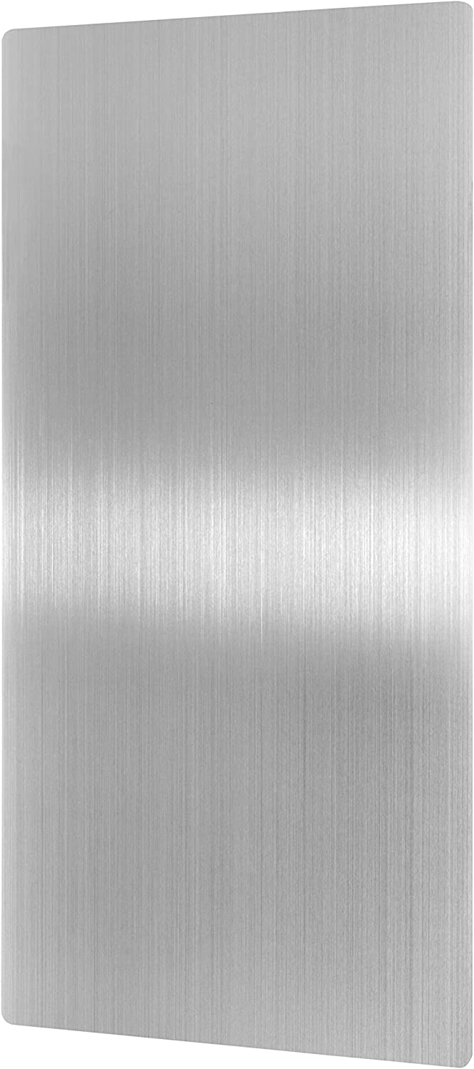 Alpine Stainless Steel Hand Dryer Wall Guard - 31.8  x 15.8  Hand Dryer Splash Guard Steel for Wall Damage & Splash Predection with Ultra Strength Adhesive