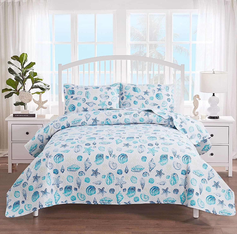 Coastal Quilt Superlatite Set Lightweight Gifts Home Bedspreads Summer Size Twin