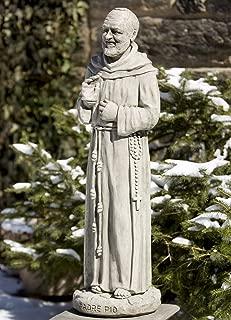 Campania International R-047-GS Padre Pio Statue, Grey Stone Finish
