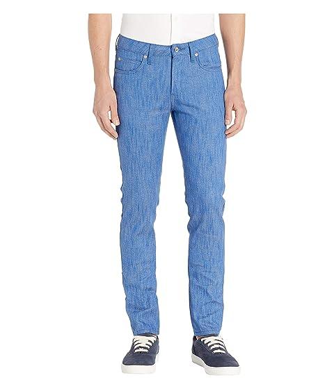 Naked & Famous Super Guy Blue Storm Slub Jeans