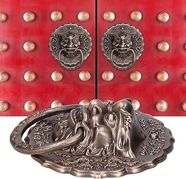 Door Lock Latch, Animal Head Knocker, Rust-Proof Simple Structure for Double Door Door Handle Replacement