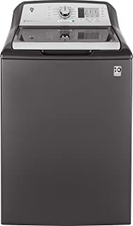 GE GTW685BPLDG Washer with Stainless Steel Basket, 4.5 Cu. Ft. Capacity, 14 Cycles, Gray,