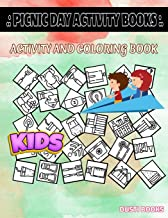 Picnic Day Activity Books: Match, Gaming, Stove, Badminton, Ice Bucket, Soda, Trailer, Meat For Girls 4-7 Picture Quiz Words Activity Coloring Book 40 Fun