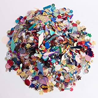 Hapy Shop 200 Gram Mixed Sequins and Spangles,Assorted Shapes,Color and Sizes for Craft Supplies Clothes Jewelry Making