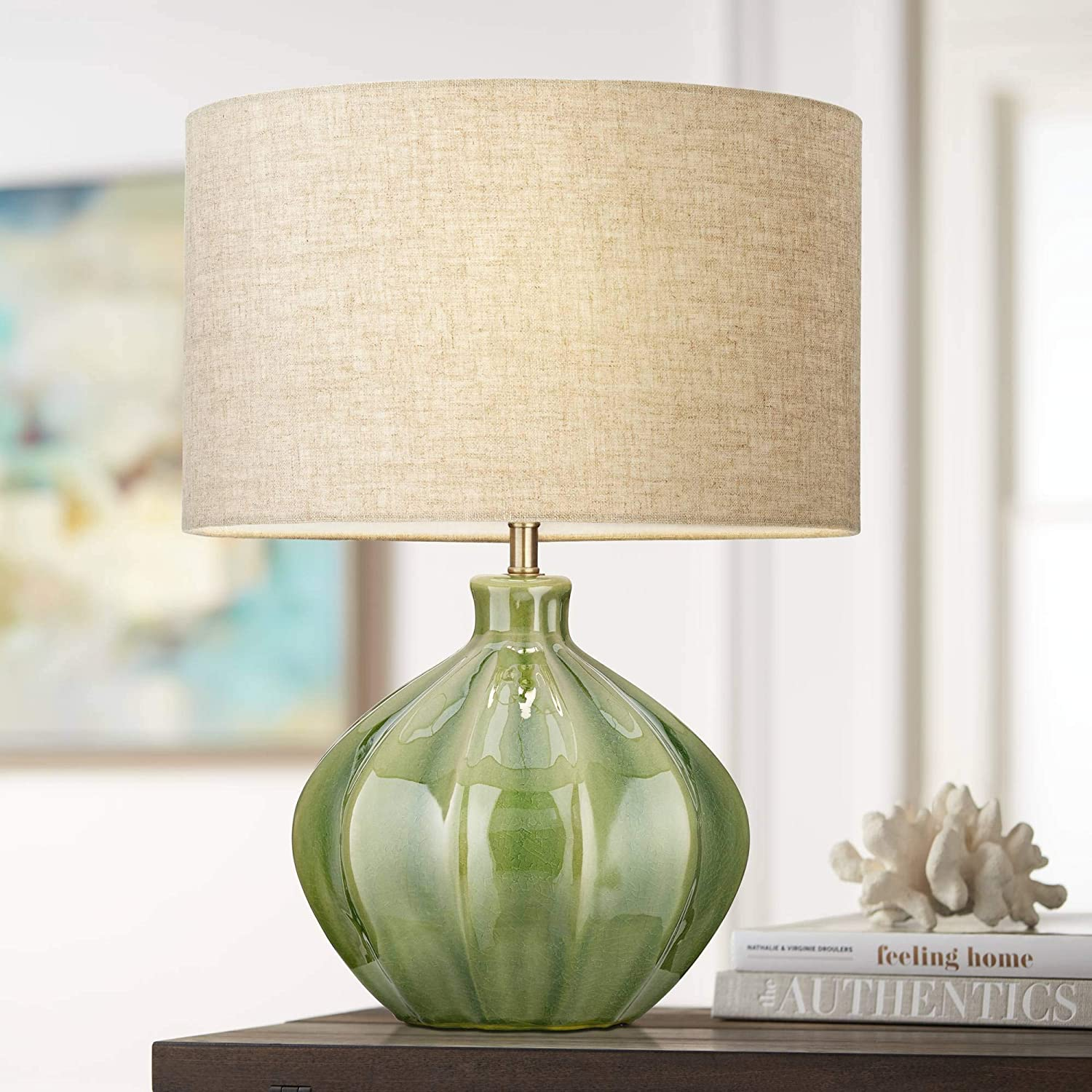Gordy Modern Contemporary Accent A surprise price is realized trust Table Handcrafted G Lamp Ribbed