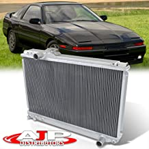 AJP Distributors Manual Transmission Racing Dual Core Aluminum Engine Cooling Radiator For Supra MA70 JZA70 1986 1987 1988 1989 1990 1991 1992 86 87 88 89 90 91 92