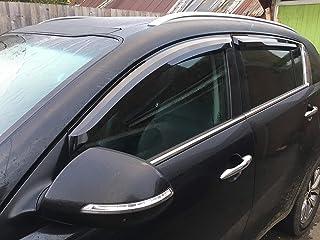 CLIMAIR Car Wind Deflectors KIA RIO Saloon 2005 to 2011 FRONT