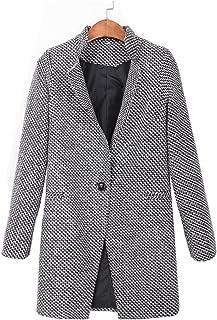 comprar comparacion Botanmu Mujer Abrigo de Lana Chaqueta Corta de Invierno Trench Coat Gabardina Clásica