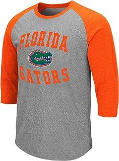 Colosseum Men's NCAA-Raglan-3/4 Sleeve-Heathered-Baseball T-Shirt