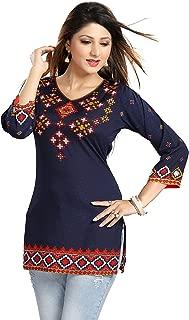 Color Petal Printed Short Kurti/Tunic/Top for women and girls