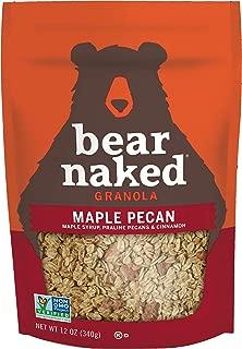 Bear Naked Maple Pecan Granola - Non-GMO, Kosher Dairy, Whole Grains - 12 Oz (Pack of 6)