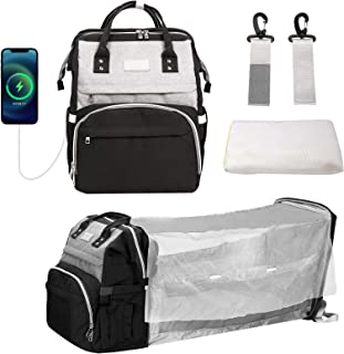 Verkstar Diaper Bag Backpack,5 in 1 Multifunction Travel Portable Baby Nappy Changing Bags Backpack for Mommy and Dad Fold...