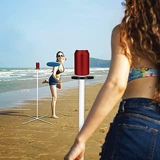 ROPODA Flying Disc, Frisbee Set Disc Pole, Disc Toss Game Beach, Lawn, Backyard Park, White