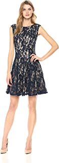 Women's All Over Lace Fit and Flare Dress