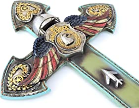 RAINBOW US Air Force Cross Eagle Wings Military14x8 1/2inch