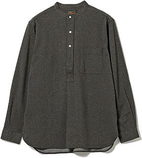 (ビームス プラス)BEAMS PLUS/カジュアルシャツ ニット バンドカラー プルオーバー ストライプシャツ メンズ