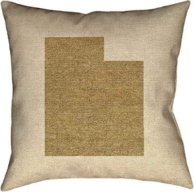 ArtVerse Katelyn Smith Indiana Canvas 20 x 20 Pillow-Cotton Twill Double Sided Print with Concealed Zipper /& Insert