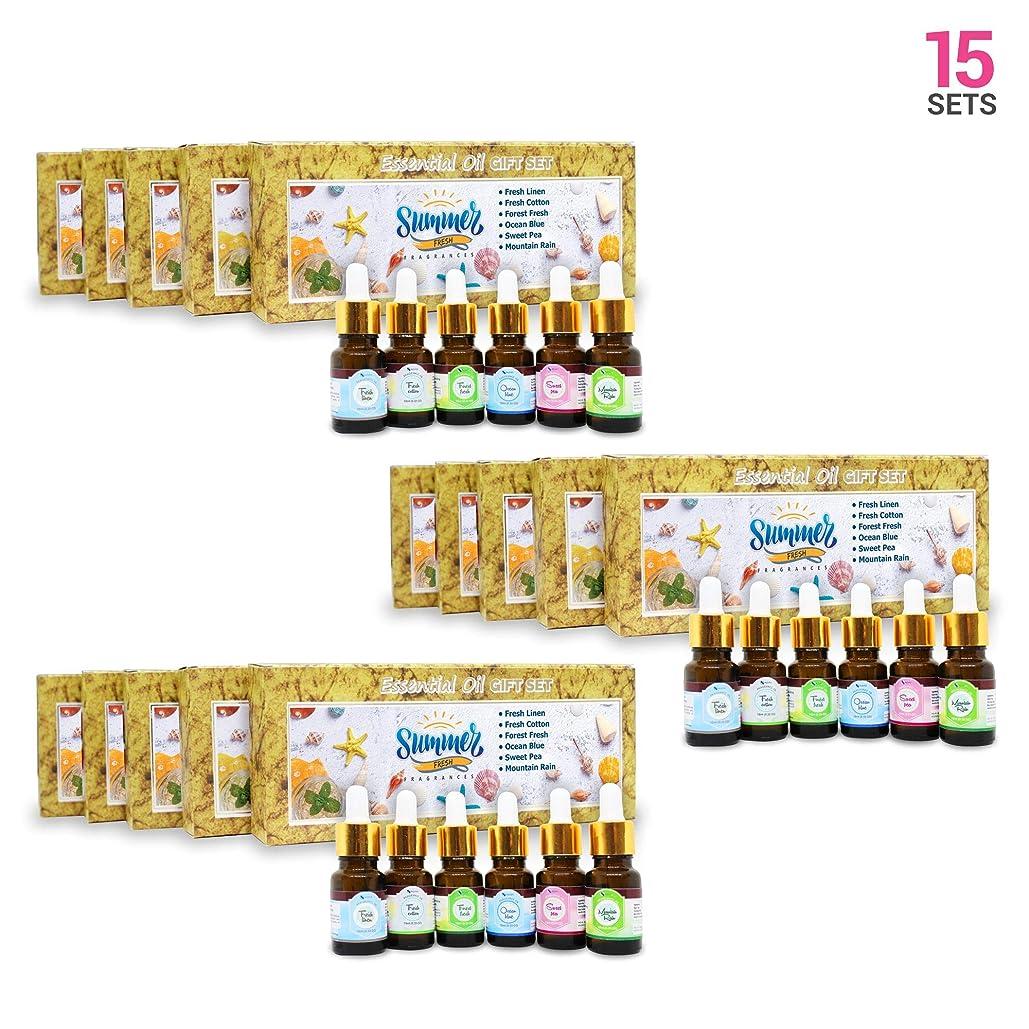 無秩序原稿近傍Aromatherapy Fragrance Oils (Set of 15) - 100% Natural Therapeutic Essential Oils, 10ml each (Fresh Linen, Fresh Cotton, Forest Fresh, Ocean Blue, Sweet Pea, Mountain Rain) Express Shipping