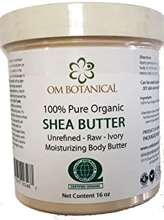 Certified Organic AFRICAN SHEA BUTTER from Ghana 16 oz | Unrefined, Raw, Ivory 100% Pure Natural Body Butter | Skin & Hair...