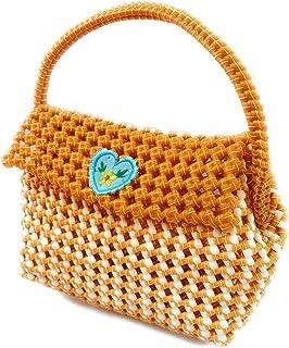 Medonna shoppe Women's Plastic Wire Multi Purpose Handmade Washable Handbag with Magnet Lock (Multicolour)